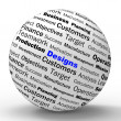 Designs Sphere Definition Means Architecture And Patterns Design — Stock Photo