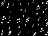 Musical Notes Background Means Melodies Sounds And Notes — Stock Photo