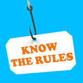 Know The Rules On Hook Shows Policy Protocol Or Law Regulations — Stock Photo