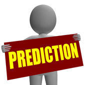 Prediction Sign Character Means Future Forecast And Destiny — Stock Photo