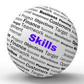 Skills Sphere Definition Means Special Abilities Or Aptitudes — Stock Photo