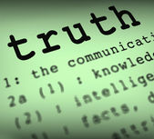 Truth Definition Means True Honesty Or Veracity — Stock Photo