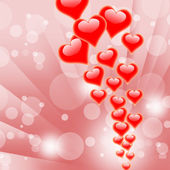 Hearts On Background Shows Valentines Day Or Romanticism — Stock Photo