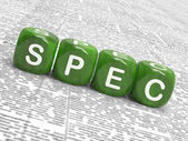 Spec Dice Show Blueprint Stipulation And Particulars — Stock Photo