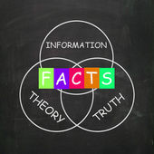 Words Refer to Information Truth Theory and Fact — Stock Photo