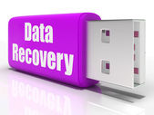 Data Recovery Pen drive Means Convenient Backup Or Data Restorat — Stock Photo
