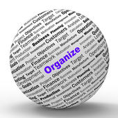Organize Sphere Definition Shows Structured Files Or Management — Stock Photo