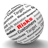 Risks Sphere Definition Shows Insecurity And Financial Risks — Stock Photo