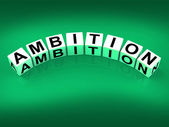 Ambition Blocks Show Targets Ambitions and Aspiration — Stock Photo