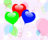 Colourful Heart Balloons Mean Romantic Party Or Celebration — Stockfoto