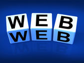 Blocs Web consulter le world wide web — Photo