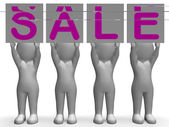 Sale Banners Shows Special Promotions And Retails — Стоковое фото