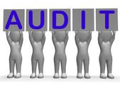 Audit Banners Means Financial Audience Or Inspection — Stock Photo