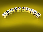 Innovation Dice Mean Improvements And New Developments — Stock Photo