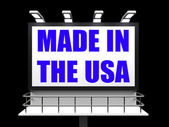 Made in the USA Sign Means Produced in America — Stockfoto