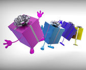 Presents Mean Give And Receive Gifts For Special Occasion — Stock Photo