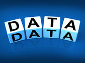 Data Blocks Mean Info Technology or Database — Stock Photo