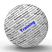 Training Sphere Definition Shows Instructing Or Education — Stock Photo