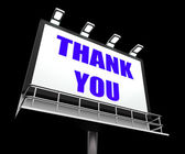 Thank You Sign Refers to Message of Appreciation and Gratefulnes — Stock Photo