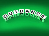 Guidance Blocks Show Guiding Advising and Directing — Stock Photo