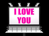 I Love You Sign Refer to Romantic Loving and Caring — Stock Photo
