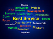 Best Service Brainstorm Shows Steps For Delivery Of Services — Stock Photo