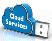 Cloud Services Cloud Pen drive Shows Online Computing Services — Stock Photo