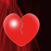 Broken Heart Means Marriage Breakup Or Divorce — Stock Photo