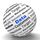 Data Sphere Definition Means Digital Information Or Database — Stock Photo
