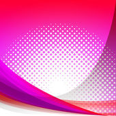 Dotted Pink Wave Background Shows Girly Gradation Wallpaper Or D — Stock Photo