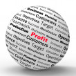 Profit Sphere Definition Shows business Earnings And Incomes — Stock Photo #45534735