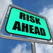 Risk Ahead Sign Shows Dangerous Unstable and Insecure Warning — Stock Photo #45536861