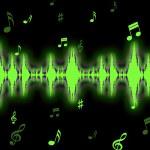 Sound Wave Background Shows Sound Analyzer Or Spectrum — Stock Photo