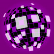 Modern Disco Ball Background Shows Nightclub Or Light Spots — Stock Photo #45539443