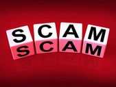 Scam Means Fraud Scheme to Rip-off or Deceive — Stock Photo