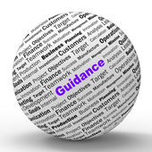 Guidance Sphere Definition Means Counselling And Help — Stock Photo