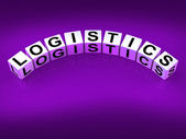 Logistics Blocks Show Logistical Strategies and Plans — Stock Photo