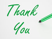 Thank You On whiteboard Means Gratitude And Appreciation — Stock Photo
