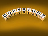 Copyright Blocks Show Patent and Trademark for Protection — Stock Photo