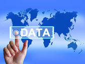 Data Map Infers an International or Worldwide Database — Stock Photo