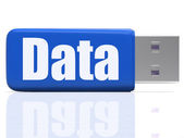 Data Pen drive Shows Digital Information And Dataflow — Stock Photo
