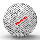 Earnings Sphere Definition Shows Lucrative Incomes Or Profits — Stock Photo