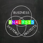 Analysis Shows Analyzing Business Systems and Projects — Stock Photo