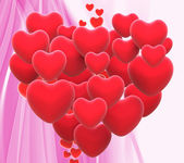 Heart Made With Hearts Means Wedding Party Or Romanticism — Stock Photo