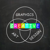 Creative Choices Refer to Graphics Art Design and Creativity — Stock Photo