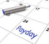 Payday Calendar Shows Salary Or Wages For Employment — Stockfoto