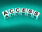 Access Blocks Show Admittance Accessibility and Entry — Stock Photo