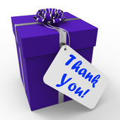 Thank You Gift Means Grateful And Appreciative — Stock Photo