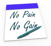 No Pain No Gain Means Toil And Achievements — Stock Photo