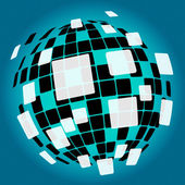 Modern Disco Ball Background Means Nightlife Or Discos — Stock Photo